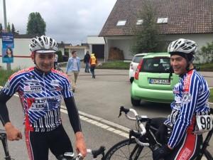 Robert Müller und Thomas Lienert nach dem Rennen